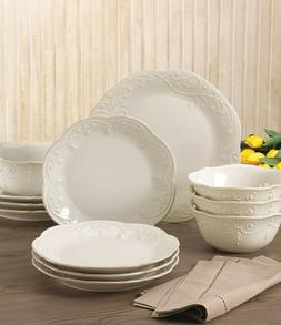 Lenox French Perle White 12-piece Dinnerware Set Brand New
