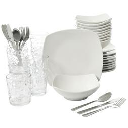Gibson Home 48-Piece White Elegant Kitchen Basic Essentials