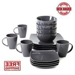Gibson Home Soho Lounge Stoneware 16-piece Dinnerware Set, S
