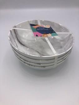 Grey Plastic Marble Dinnerware Bowls Set Of 4 Kitchen Tupper