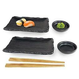 Happy Sale, 6 Piece Japanese Style Sushi Plate Dinnerware Se