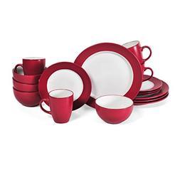 Pfaltzgraff Harmony 16 Piece Dinnerware Set , Red