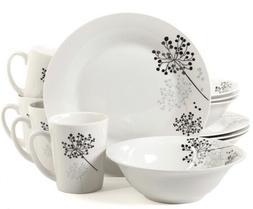 Gibson Home Netherwood 12-Piece Dinnerware Set, White