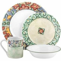 Corelle Impressions 16-Piece Dinnerware Set Watercolors Stac