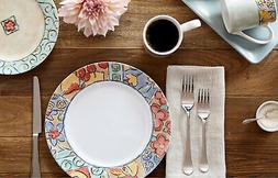 Corelle Impressions Watercolors 16 Piece Dinnerware Plates S