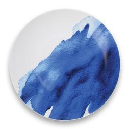 Indigo Wash Blue and White Porcelain 12 Piece Dinnerware Set