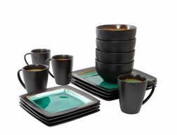 Kitchen Dining Set 16-Piece Dinnerware Plates Bowls Dishes C