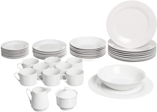 10 Street Round Set, White for people