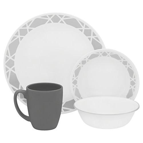 Corell 1127665 Livingware Dinnerware - Modena44; 16