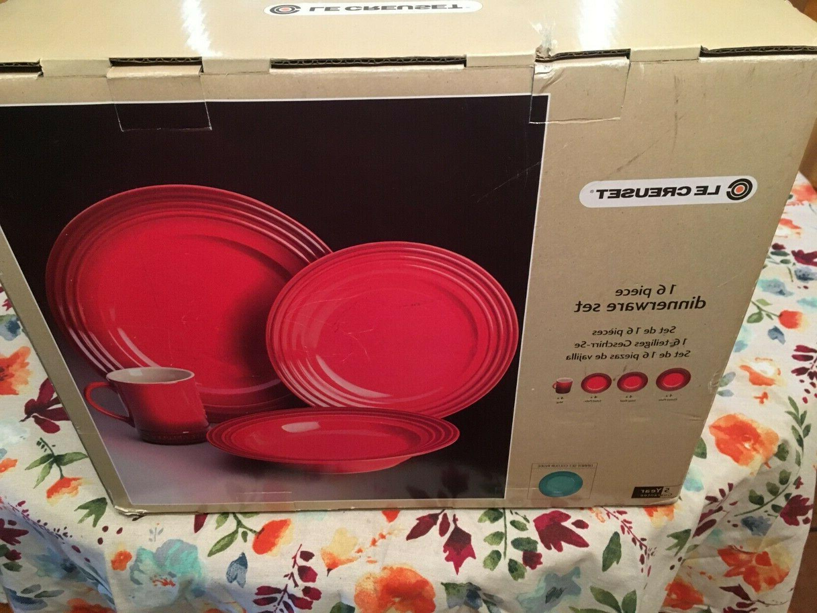 16 piece dinnerware set stoneware brand new