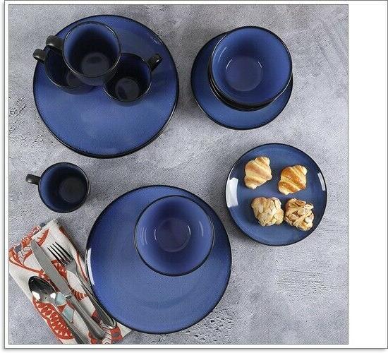 16 Reactive Soho Round Dinnerware Blue, mode
