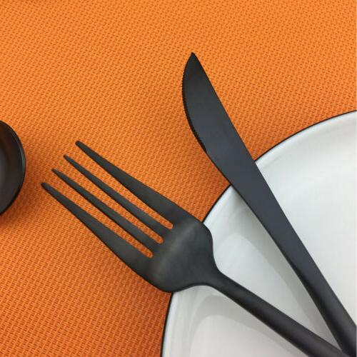 24pcs/set Stainless Dinnerware Spoon Matte