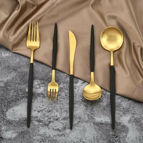 18/10 Stainless Steel Flatware Set Tableware Kitchen 5pcs/set kit