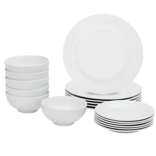 Dinnerware Set Plates Bowls Porcelain Kitchen for