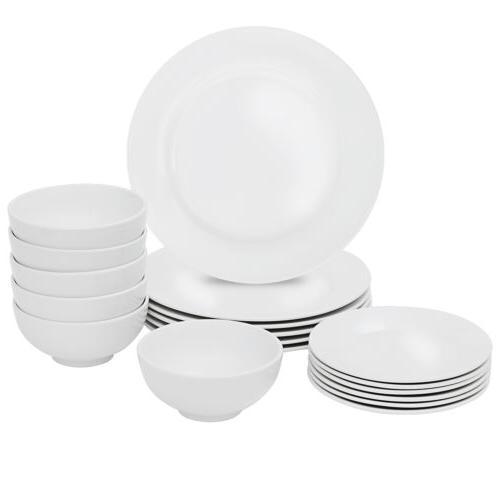 Dinnerware 18 Plates White Kitchen 6