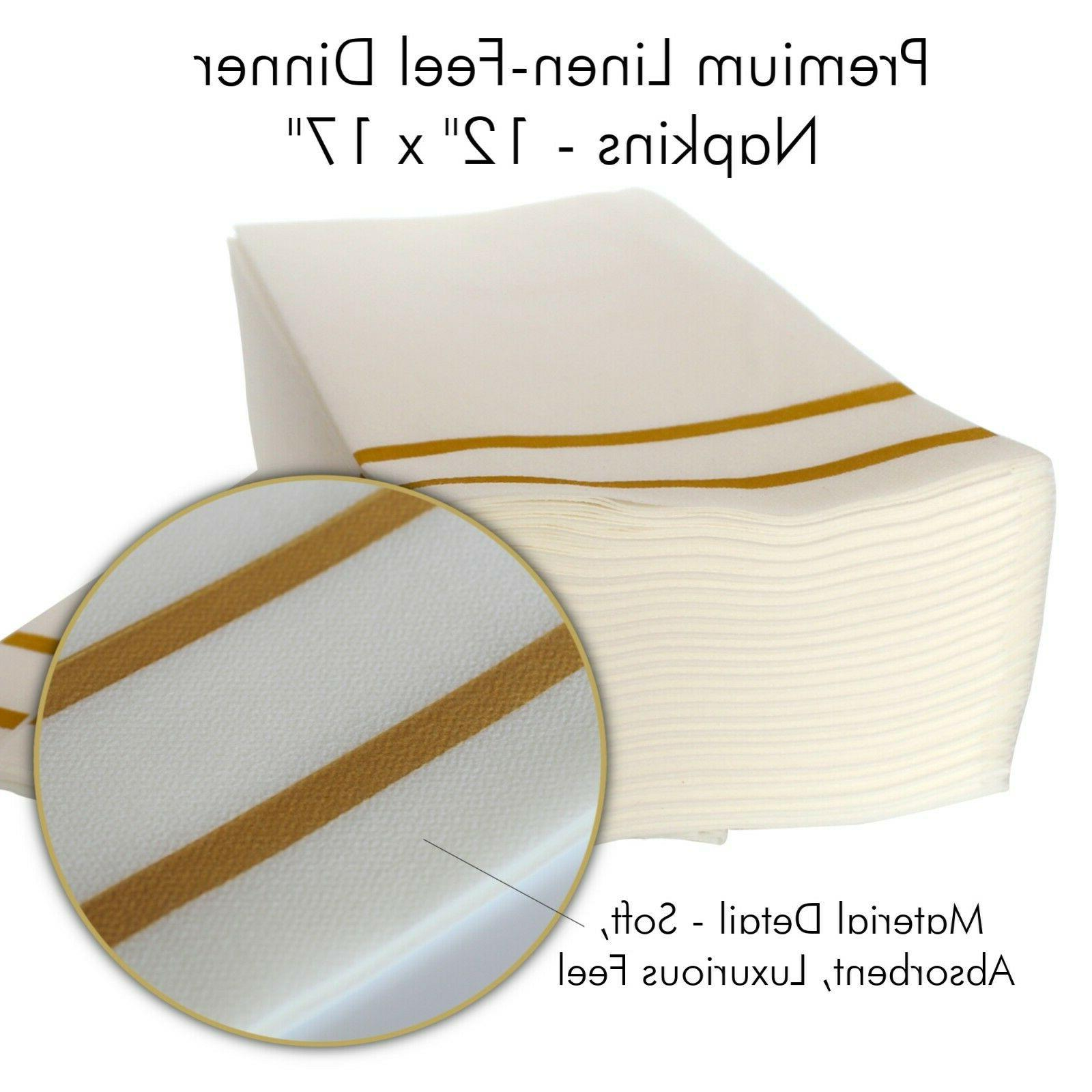 200 Gold Disposable Plates for Guests