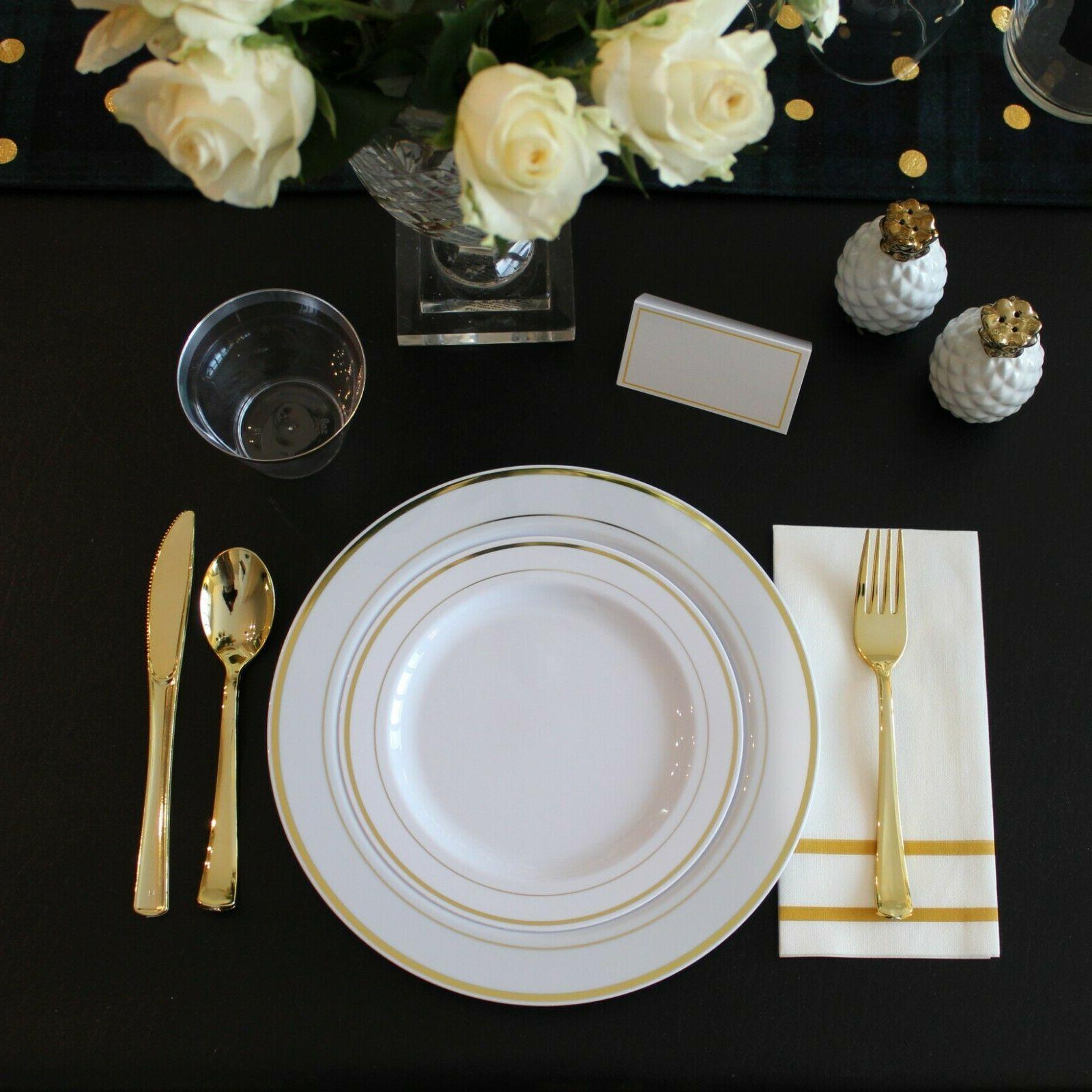 200 Disposable Set Plates 25 Party Guests