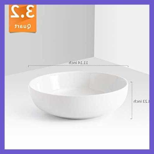 "3.2 Quart Porcelain Bowl Set Pack LARGE 11"" Dinnerware"