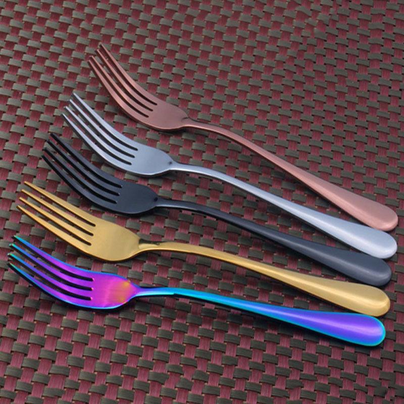 4 Steel Cutlery Gold Knife Spoon