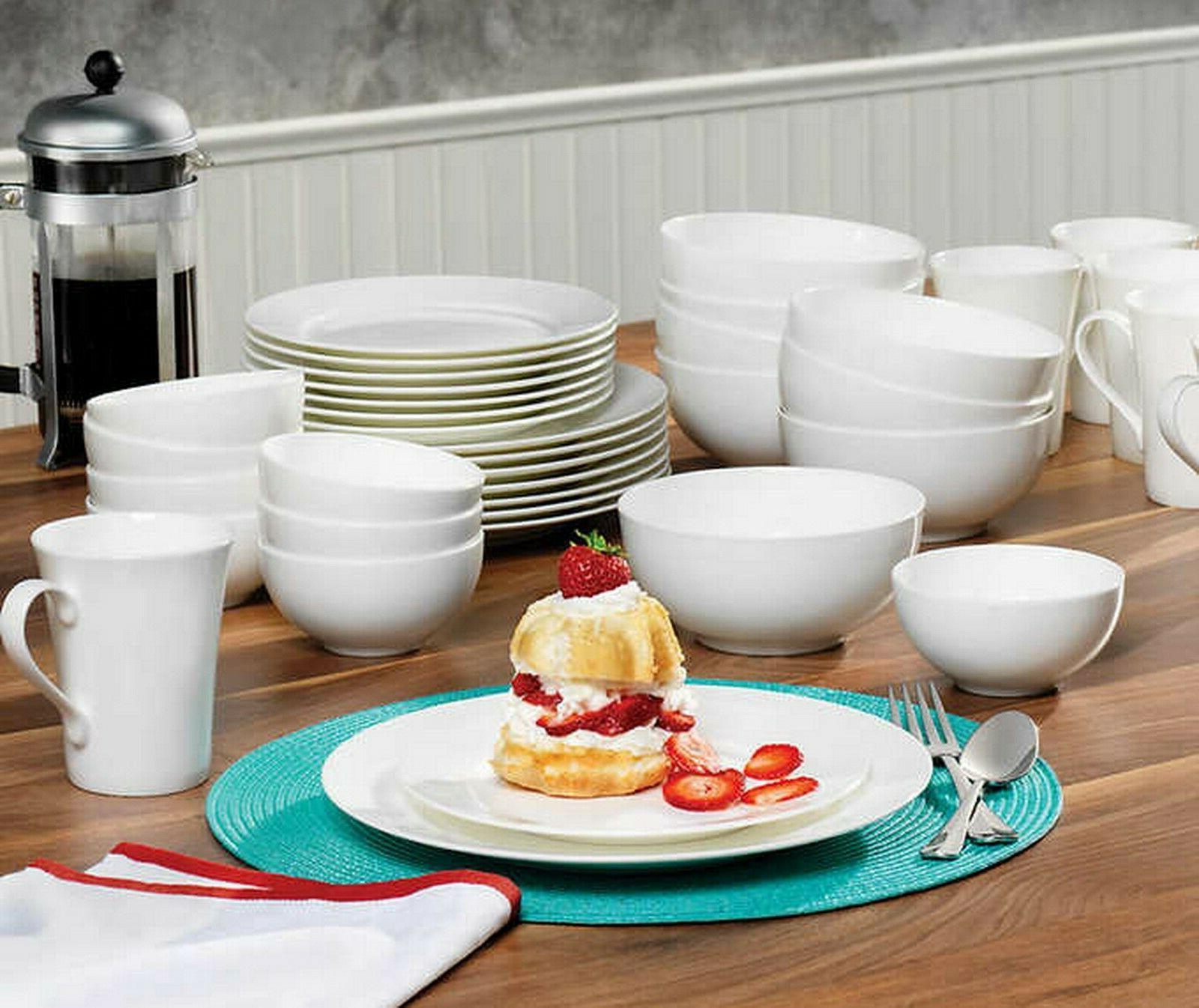 40 piece bone china dinnerware service
