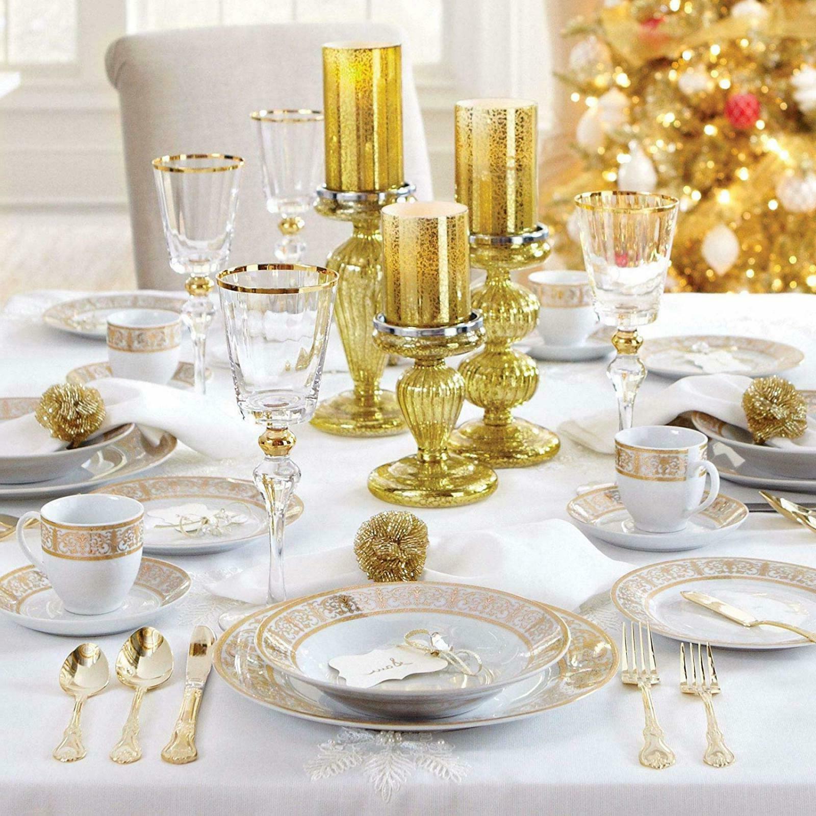 40 Piece Dinnerware Set Kitching Ceramic Dining Set Vintage
