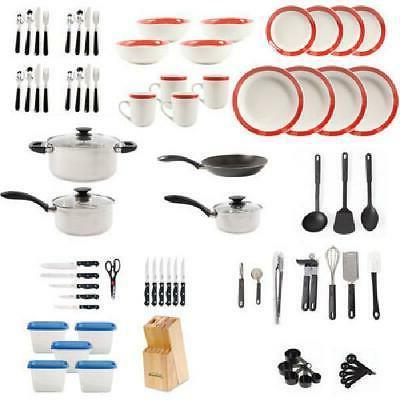 83-Piece & & Knife Cookware Combo Home Dinnerware