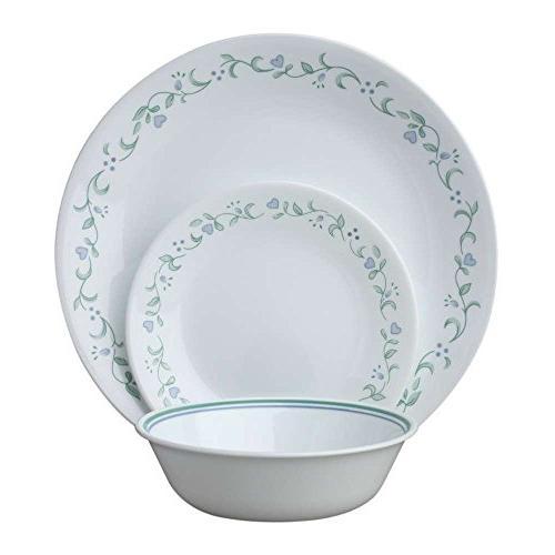 Corelle Livingware 18-Piece Dinnerware Set, Country Cottage,