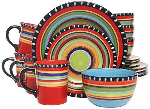 Gibson Pueblo 16-Piece Multicolor
