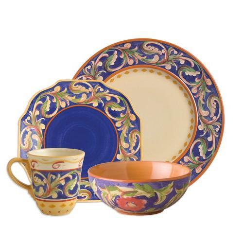 Pfaltzgraff Villa Della Luna Blue Dinnerware Set