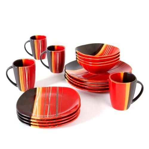 bazaar brown dinnerware set