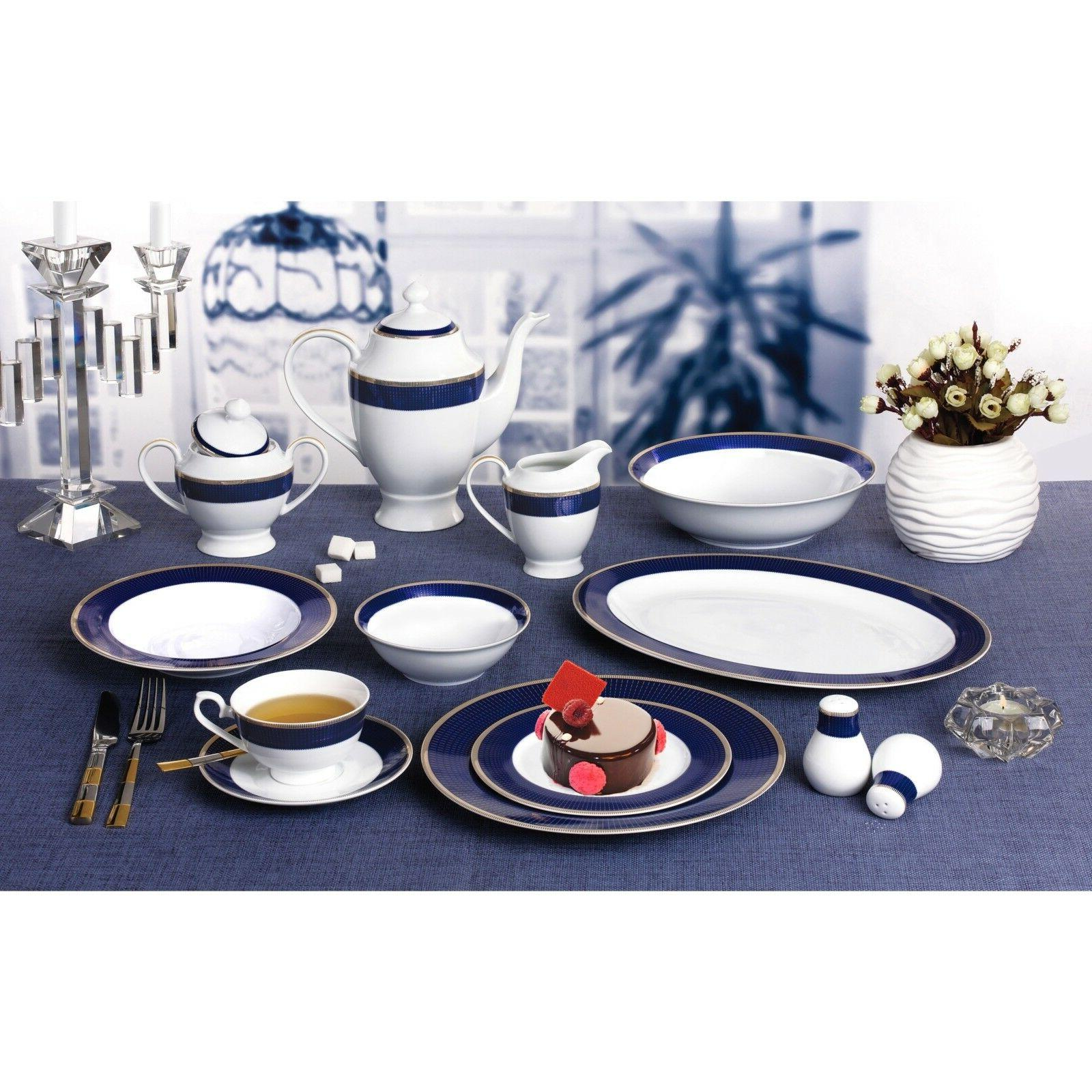 Bone Set 57 Service 8 Dining Dishes