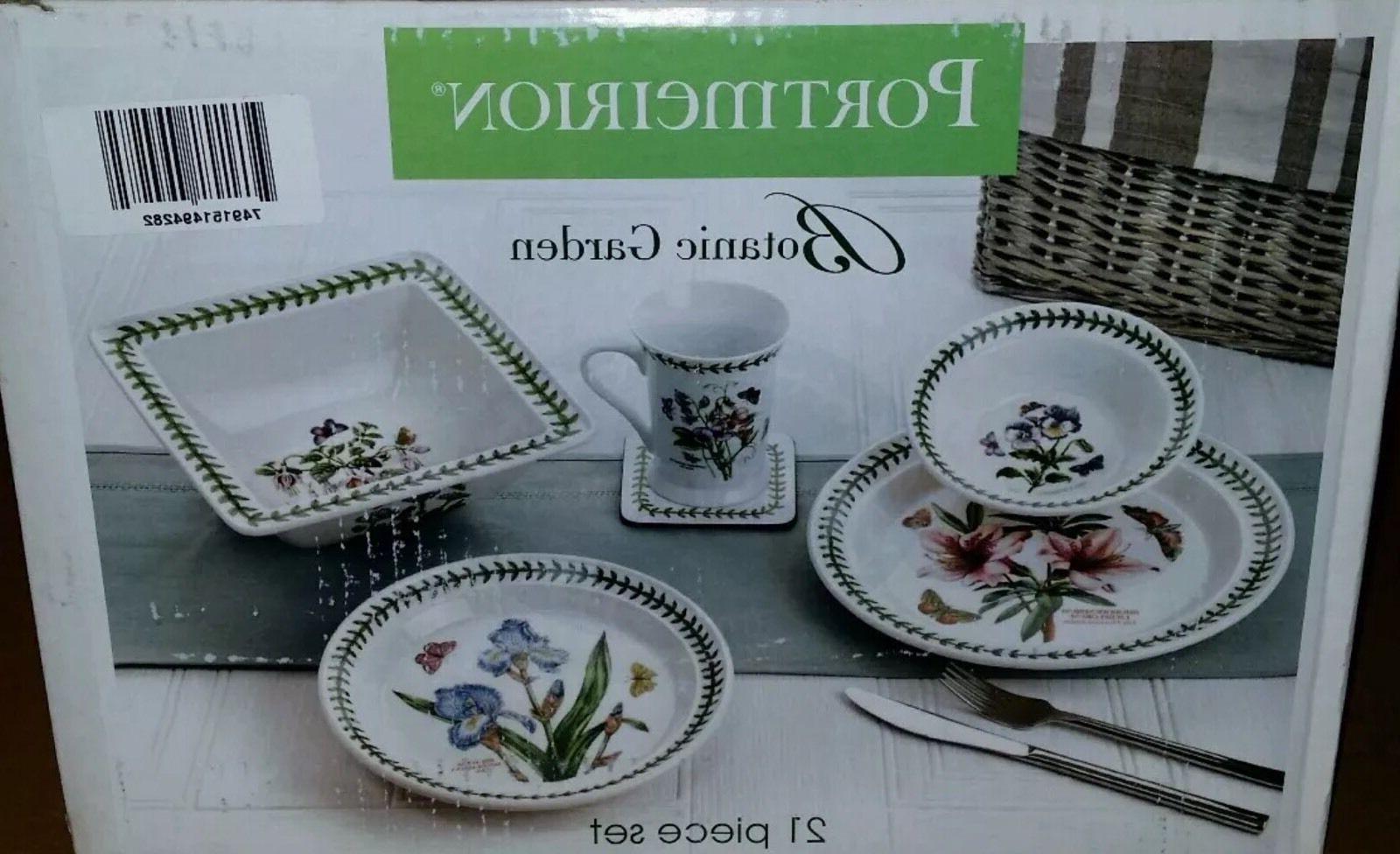 botanic garden 21 piece dinnerware set