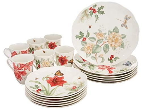 butterfly meadow holiday dinnerware set