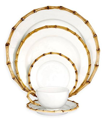 classic bamboo place setting