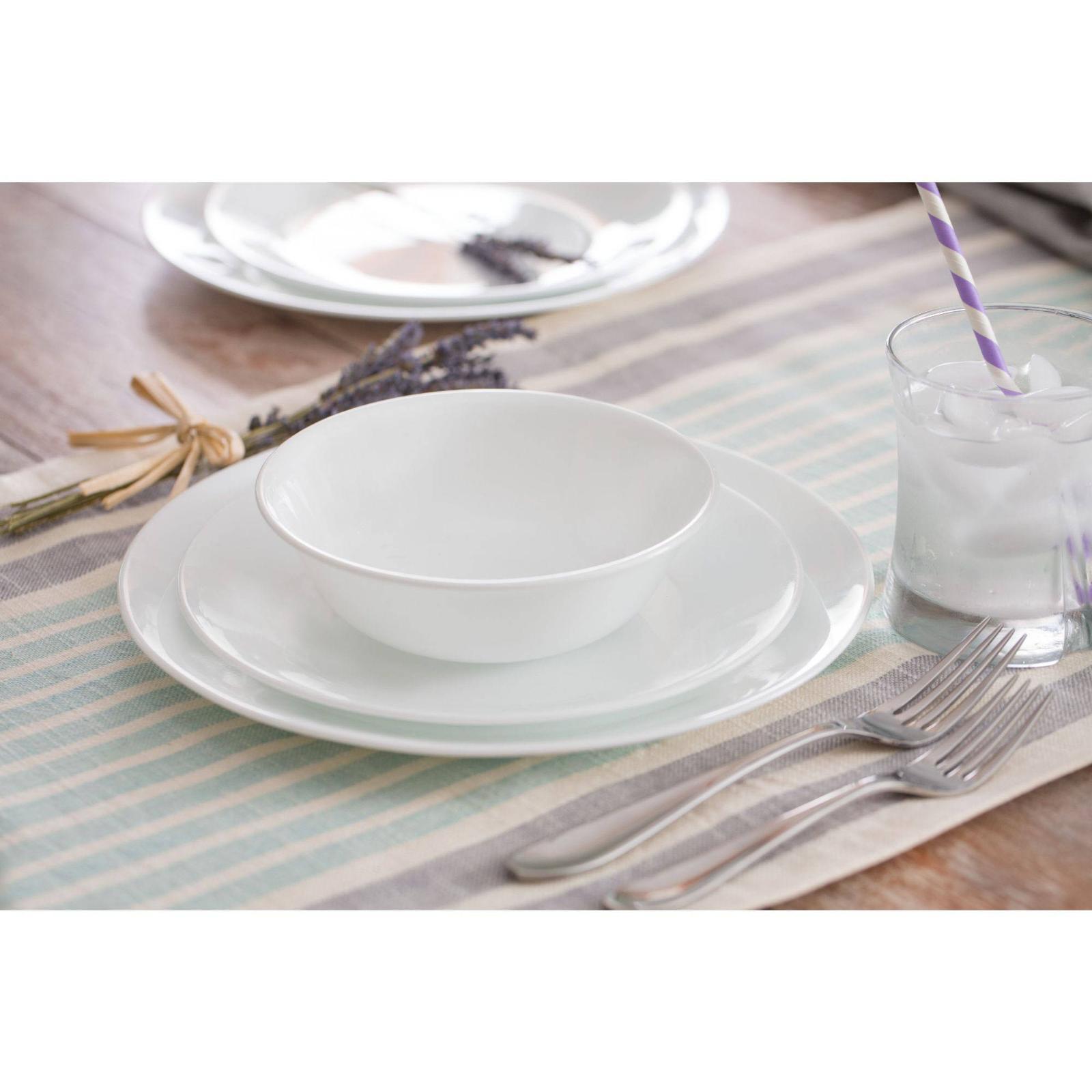 Corelle Classic Winter Frost White 16-Piece Dinnerware Color
