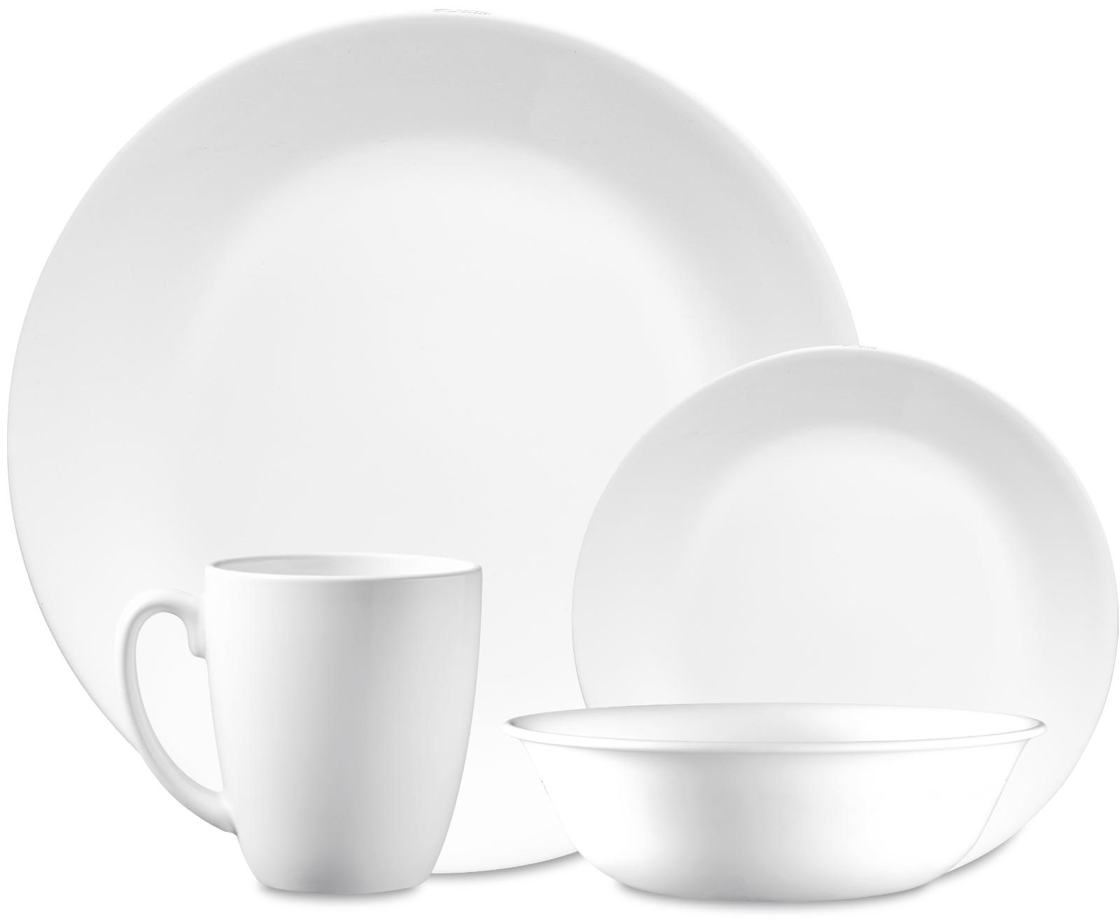 classic winter frost white 16 piece dinnerware