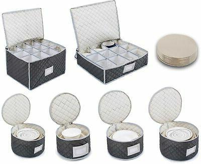 complete dinnerware storage set best protection