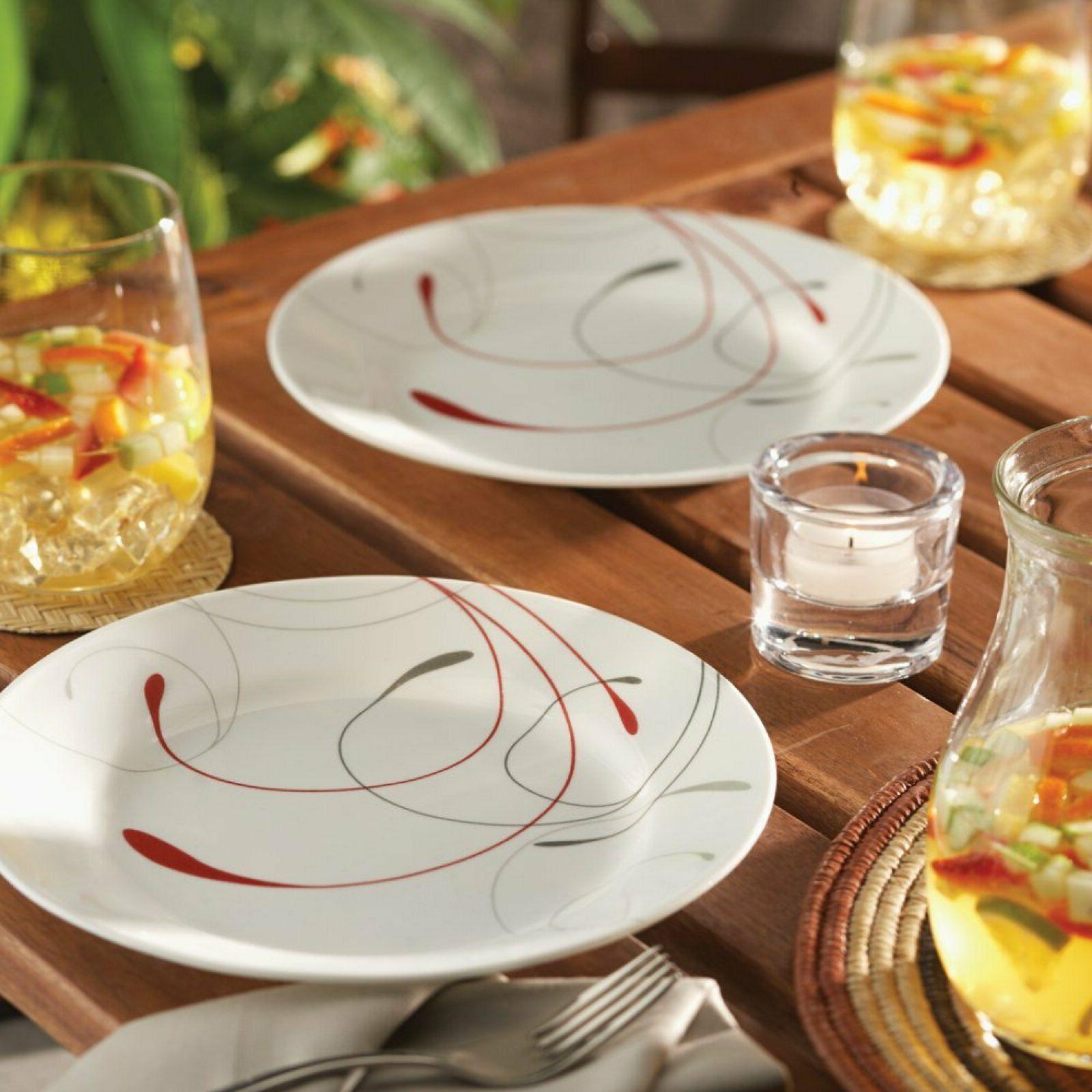 Corelle Livingware Splendor 16pc Dinnerware Set Service for