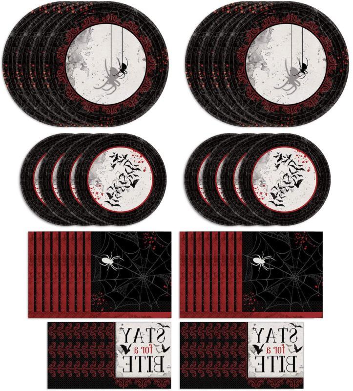 Amscan Dark Manor Dinnerware Bundle | Plates, Napkins | Outd