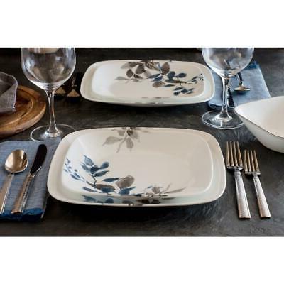 CORELLE Gray Leaves Porcelain Resistant
