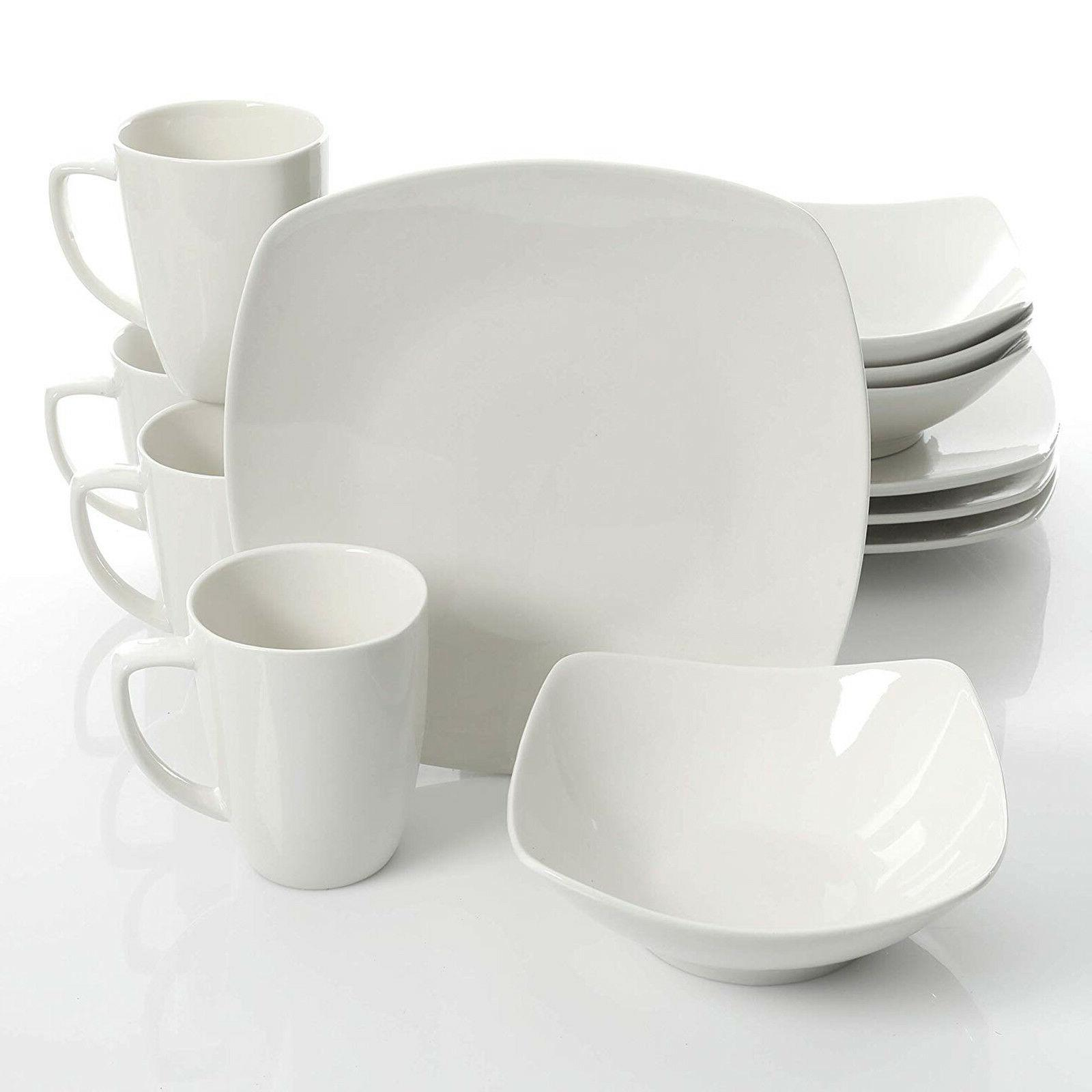 Dinnerware Set Gibson Home 12pc  Kitchen Dishes Food Cooking