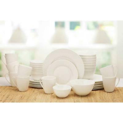 dinnerware set huntington 40 piece white serves