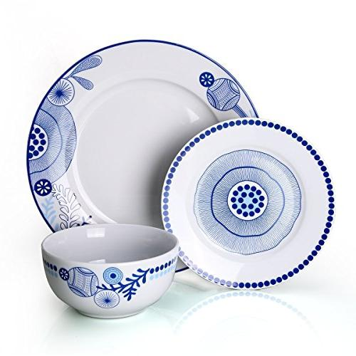 Dinnerware Service and Bowls Sets Plate Kitchen