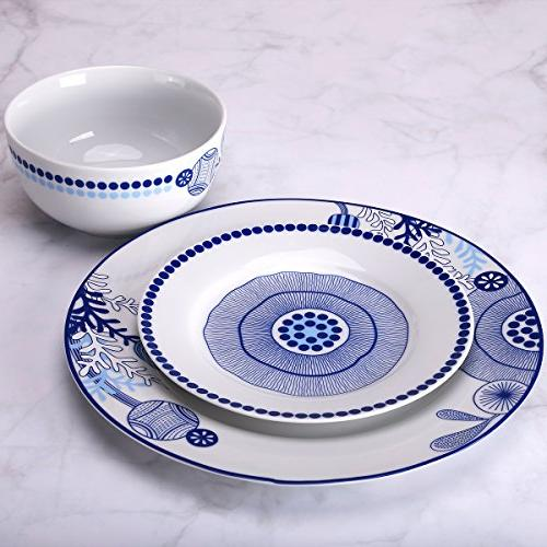 Dinnerware Service for Plates and Bowls Sets Plate Simple and