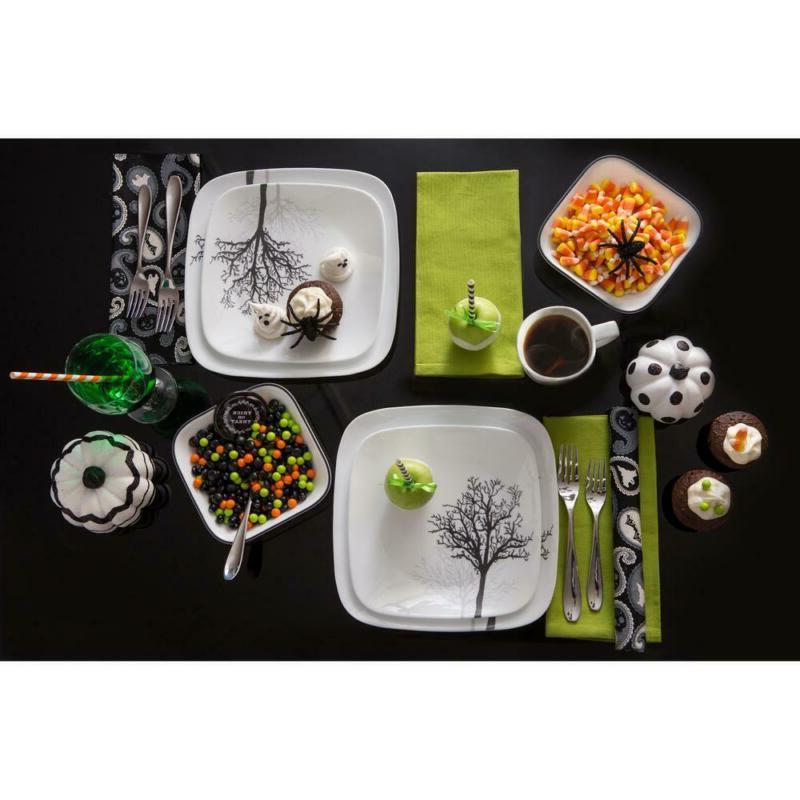 Corelle Dinnerware Set Timber Shadows Microwave