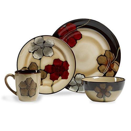 everyday painted poppies dinnerware set