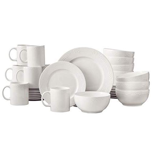 filigree white dinnerware set