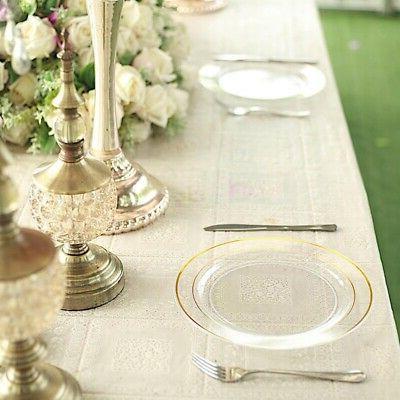 """Gold Clear 10"""" Wedding"""