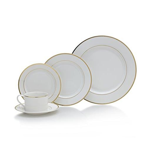 haley gold dinnerware set