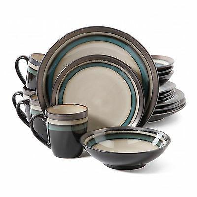 Lewisville Piece Dinnerware Set, Teal